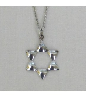 PETAL OPEN STAR STERLING SILVER NECKLACE