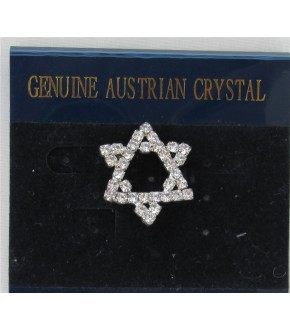 AUSTRIAN CRYSTAL STAR OF DAVID PIN