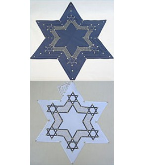 EMBROIDERED FABRIC STAR OF DAVID