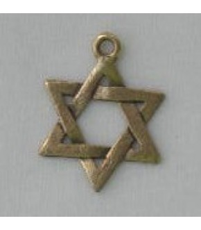 ANTIQUE GOLD INTERWOVEN STAR CHARM