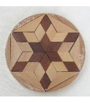 CIRCULAR STAR OF DAVID WOODEN PUZZLE