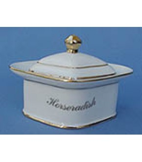 CERAMIC HORSERADISH SERVER WITH LID