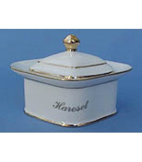 CERAMIC HAROSET SERVER WITH LID