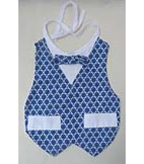 ALL OVER STAR PATTERN TUXEDO BIB