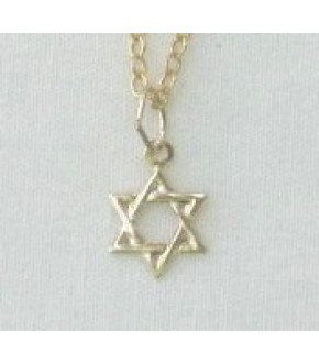 GOLD FILLED PETITE STAR OF DAVID NECKLACE