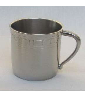 PEWTER FINISH BABY CUP