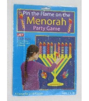 PIN THE FLAME ON THE MENORAH GAME