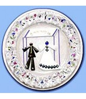 FUSED GLASS WEDDING PLATE BY TAMARA BASKIN