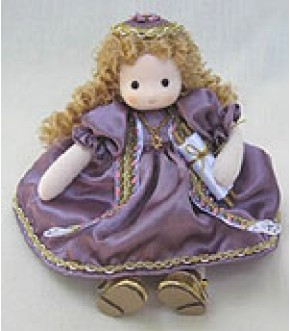 PURPLE MUSICAL DOLL W TORAH