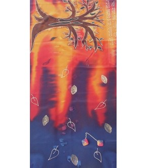 SUNSET SILK TREE OF LIFE TALLIT/BAG AND CLIPS