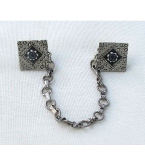 PEWTER TALLIT CLIPS WITH STAR DESIGN CENTER