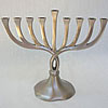 Chrome-Aluminum-Pewter Menorahs