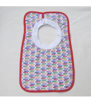 COTTON TERRY MEAT BIB