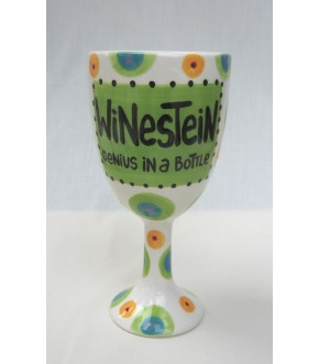 CERAMIC WINESTEIN GOBLET