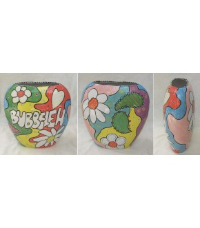 CERAMIC BUBBELAH VASE