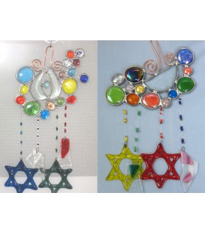MULTI COLOR BUBBLE TOP HANGING CHIME