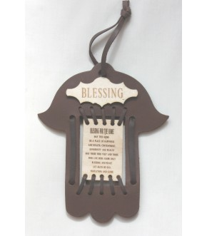 LEATHER HAMSA HOME BLESSING HAMSA WALL HANGING