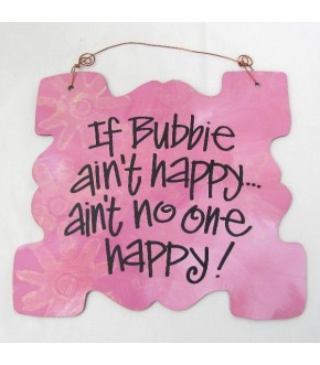 BUBBIE WOODEN PLAQUE