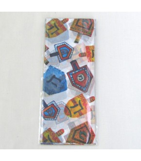 PACKAGE OF 4 SHEETS DREIDEL DESIGN TISSUE PAPER