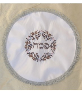 PURPLE FLOWER ROUND SEDER COVER