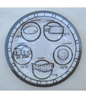 PACKAGE OF 8 COLOR AND LEARN SEDER PLATES