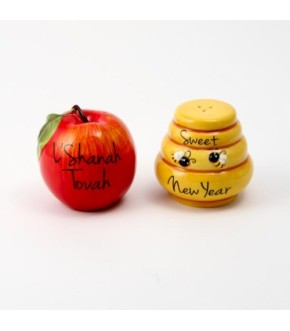 APPLE AND HONEY SALT AND PEPPER SHAKERS