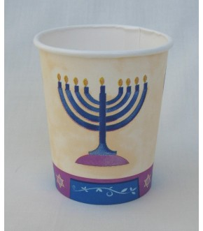 MENORAH CENTER 7 OZ PACKAGE OF 8 CUPS
