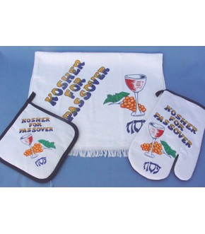KOSHER FOR PASSOVER 3PC. TOWEL SET