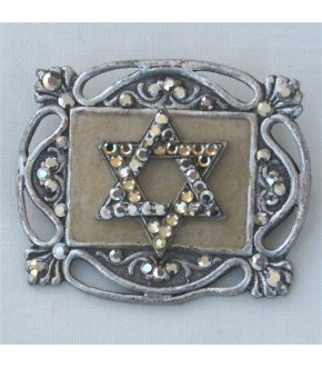 STAR OF DAVID ON SQUARE PIN