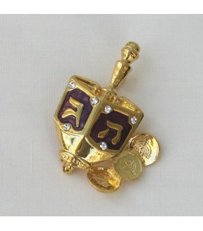 DREIDEL AND GELT PIN