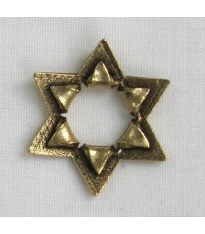 ANTIQUE GOLD OPEN PEEL STAR OF DAVID W/ HIDDEN BAIL CHARM