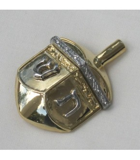 GOLD TONE DREIDEL PIN