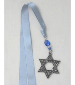 BOXED RIBBON AND PEWTER STAR BOOKMARK
