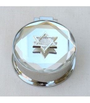 BEVELED MIRROR ROUND BOX