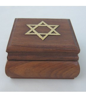 CLOSE OUT BRASS TOP HINGED WOODEN BOX