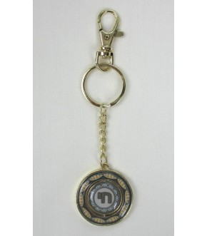 GOLDTONE REVERSIBLE CHAI DISK KEY CHAIN