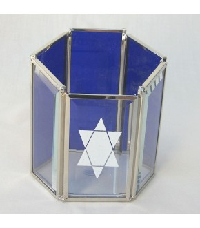 STAINED GLASS MEMORIAL CANDLE HOLDER