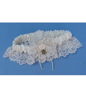 FOREVER MORE IVORY LACE GARTER