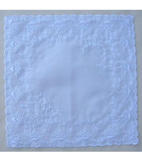 HEART EMBROIDERED LACE HANKY