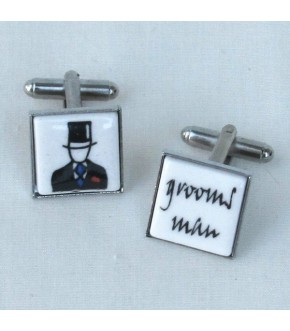 GROOMS MAN CUFF LINKS