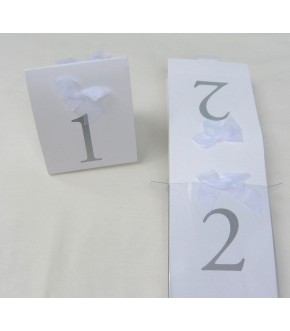 BOW APPLIQUE TABLE MARKERS