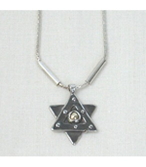 OXIDIZED STERLING STAR NECKLACE