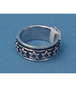 STERLING SILVER SOD SPINNER RING