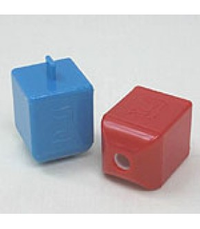 SET OF TWO DREIDEL PENCIL SHARPENERS -aa11a