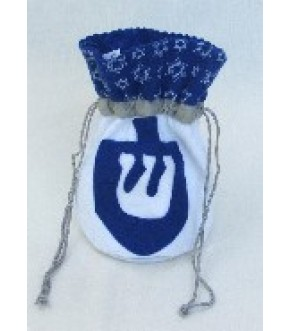 FELT BAG WITH DREIDEL APPLIQUE