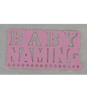 PINK BABY NAMING DIE CUT