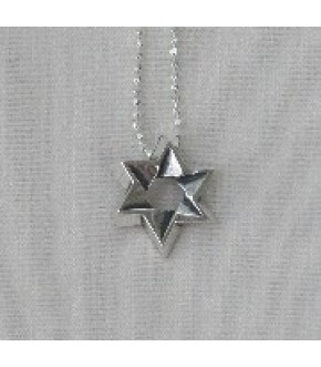 STERLING SILVER FOLD OVER STAR NECKLACE