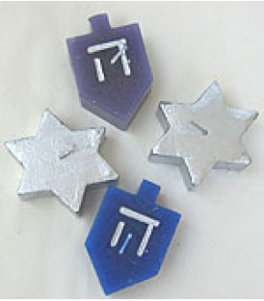BOX OF FOUR FLOATING HANUKKAH CANDLES