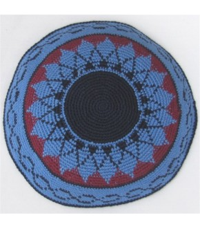 LIGHT BLUE CRANBERRY SUNFLOWER KIPPAH