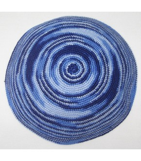 BRIGHT BLUE SWIRL DMC KNITTED KIPPAH